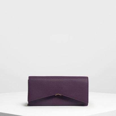 メタリックアクセント ロングウォレット / Metallic Accent Long Wallet (Purple)