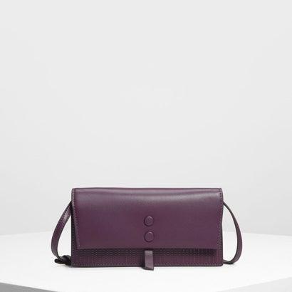 トップステッチディテール ウォレット / Topstitch Detail Wallet (Purple)