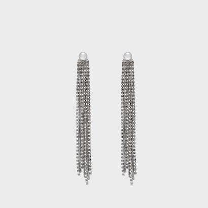 クリスタルドロップ イヤリング / Crystal Drop Earrings (Silver)