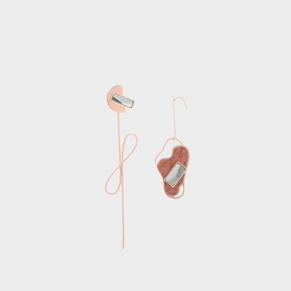 セミプレシャスストーン ドロップイヤリング / Semi-Precious Stone Drop Earrings (Rose Gold)