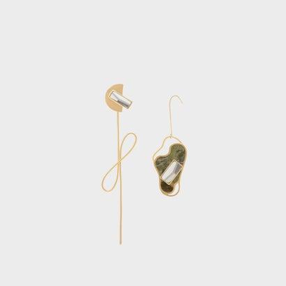 セミプレシャスストーン ドロップイヤリング / Semi-Precious Stone Drop Earrings (Sand)