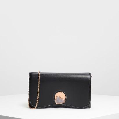 ストーンディテール ロングウォレット / Stone Detail Long Wallet (Black)