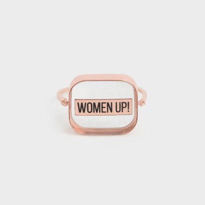 ★X'MAS★【2019 WINTER 新作】WOMEN UP! アクリルリング / WOMEN UP! Acrylic Ring (Rose Gold)