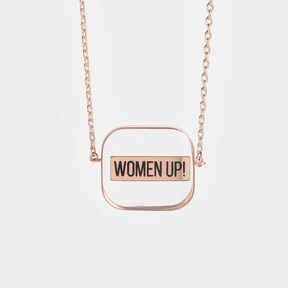 ★X'MAS★【2019 WINTER 新作】WOMEN UP!  アクリルネックレス / WOMEN UP! Acrylic Necklace (Rose Gold)