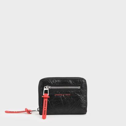 【再入荷】リンクルドエフェクト ジップアラウンドショートウォレット / Wrinkled Effect Zip Around Short Wallet(Black)