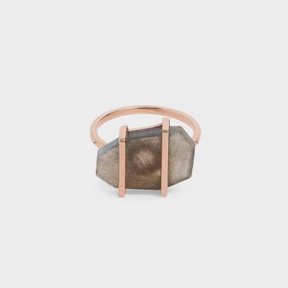 クレイジーアゲートストーンリング / Crazy Agate Stone Ring (Rose Gold)