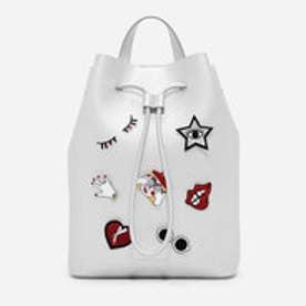ドローストリングショルダーバッグ / DRAWSTRING SHOULDER BAG(Silver)