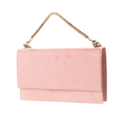 エンベロープフロントフラップハンドバッグ / EMBELLISHED FRONT FLAP HANDBAG (Pink)