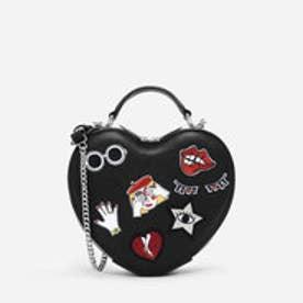 ハートシェイプクロスボディバッグ / HEART-SHAPED CROSSBODY BAG (Black)