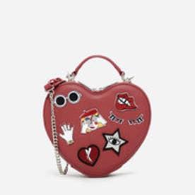 ハートシェイプクロスボディバッグ / HEART-SHAPED CROSSBODY BAG (Red)