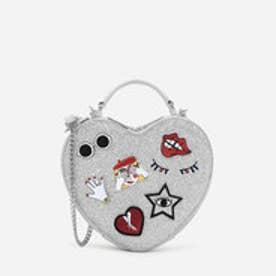 ハートシェイプクロスボディバッグ / HEART-SHAPED CROSSBODY BAG (Silver)