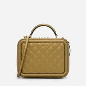 キルトボックスバッグ / QUILTED BOX BAG (Bronze)