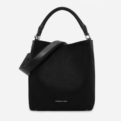 テクスチャードホーボーバッグ / TEXTURED HOBO BAG (Black)