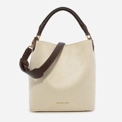 テクスチャードホーボーバッグ / TEXTURED HOBO BAG (Ivory)