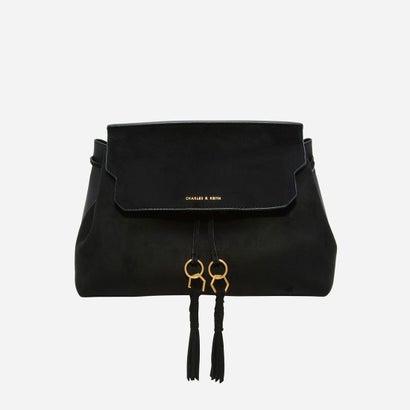 タッセルディテールスリングバッグ / TASSEL DETAIL SLING BAG (Black)