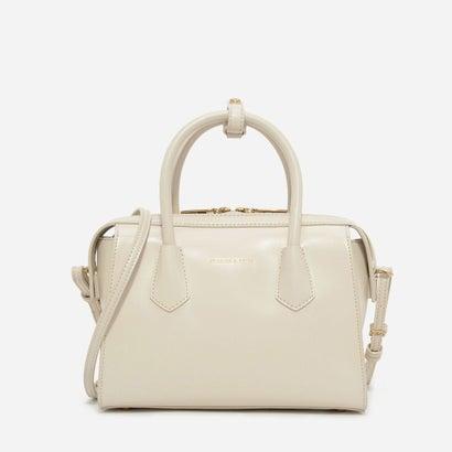 ダブルジップストラクチャードバッグ / DOUBLE ZIP STRUCTURED BAG (Ivory)