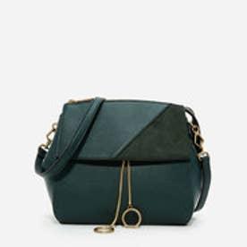 コントラストテクスチャードショルダーバッグ / CONTRAST TEXTURED SHOULDER BAG (Green)