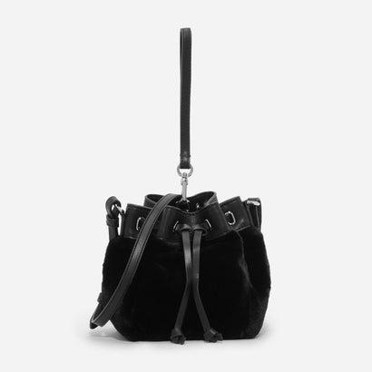 ファーリードローストリングバッグ / FURRY DRAWSTRING BAG (Black)