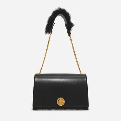 ファーリー チェーン ストラップ ショルダーバッグ / FURRY CHAIN-STRAP SHOULDER BAG (Black)