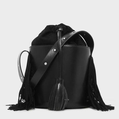 ドローストリングバケツバッグ / DRAWSTRING BUCKET BAG (Black)