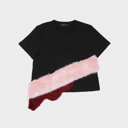 ファーリーディテール Tシャツ / FURRY DETAIL T-SHIRT (Black)