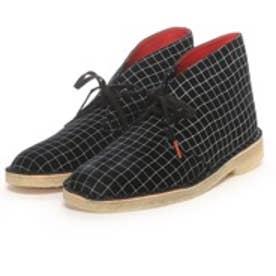 クラークス Clarks Desert Boot / デザートブーツ (ブラック/ホワイトグリッド)