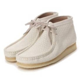 クラークス Clarks Wallabee Boot Off White Interest Suede  / ワラビーブーツ(ホワイト)