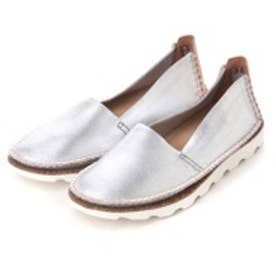 クラークス Clarks Damara Chic Silver Metallic Leather  / ダマラシック(グレー)