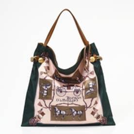 トプカピ TOPKAPI 【WEB限定】マイルドサテンスカーフパネル柄 A4トートバッグ (グリーン)