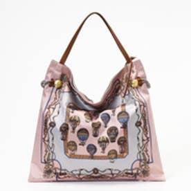 トプカピ TOPKAPI 【WEB限定】マイルドサテンスカーフパネル柄 A4トートバッグ (ピンク)