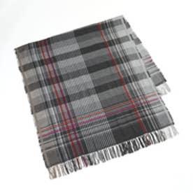 トプカピ TOPKAPI チェック織りストール (チャコールグレー)