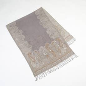 トプカピ TOPKAPI インド・ビーズ刺繍ストール (グレー)