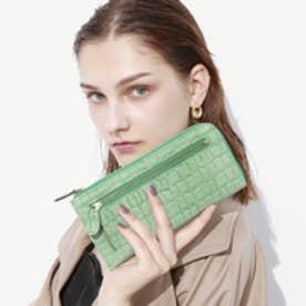 トプカピ TOPKAPI エナメルクロコ型押し・Lファスナーマチ付き長財布 (ミントグリーン)