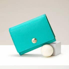 トプカピ TOPKAPI 角シボ型押し・三つ折りミニ財布 (ミントグリーン)