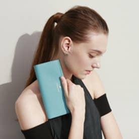 トプカピ TOPKAPI 角シボ型押し・かぶせのフタ長財布 (ブルー)