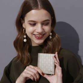 トプカピ TOPKAPI RITMO[リトモ]メッシュ柄型押し・二つ折りミニ財布(シャンパン)