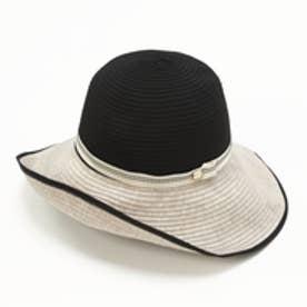 トプカピ TOPKAPI カラー切り替えつば広帽 (ブラック)