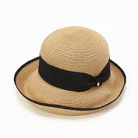トプカピ TOPKAPI ペーパーブレードリボン付き・エッジアップ帽 (ベージュ)