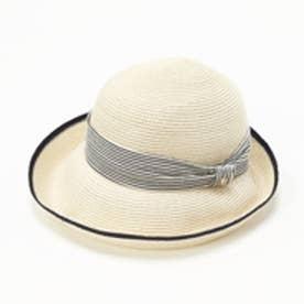トプカピ TOPKAPI ペーパーブレードリボン付き・エッジアップ帽 (オフ)