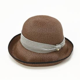 トプカピ TOPKAPI ペーパーブレードリボン付き・エッジアップ帽 (ブラウン)