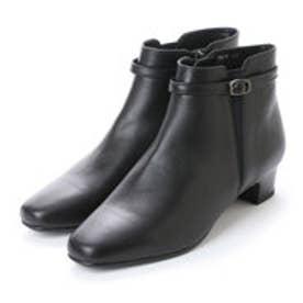 メルモ MELMO ベルテッドサイドゴアショートブーツ (ブラック)