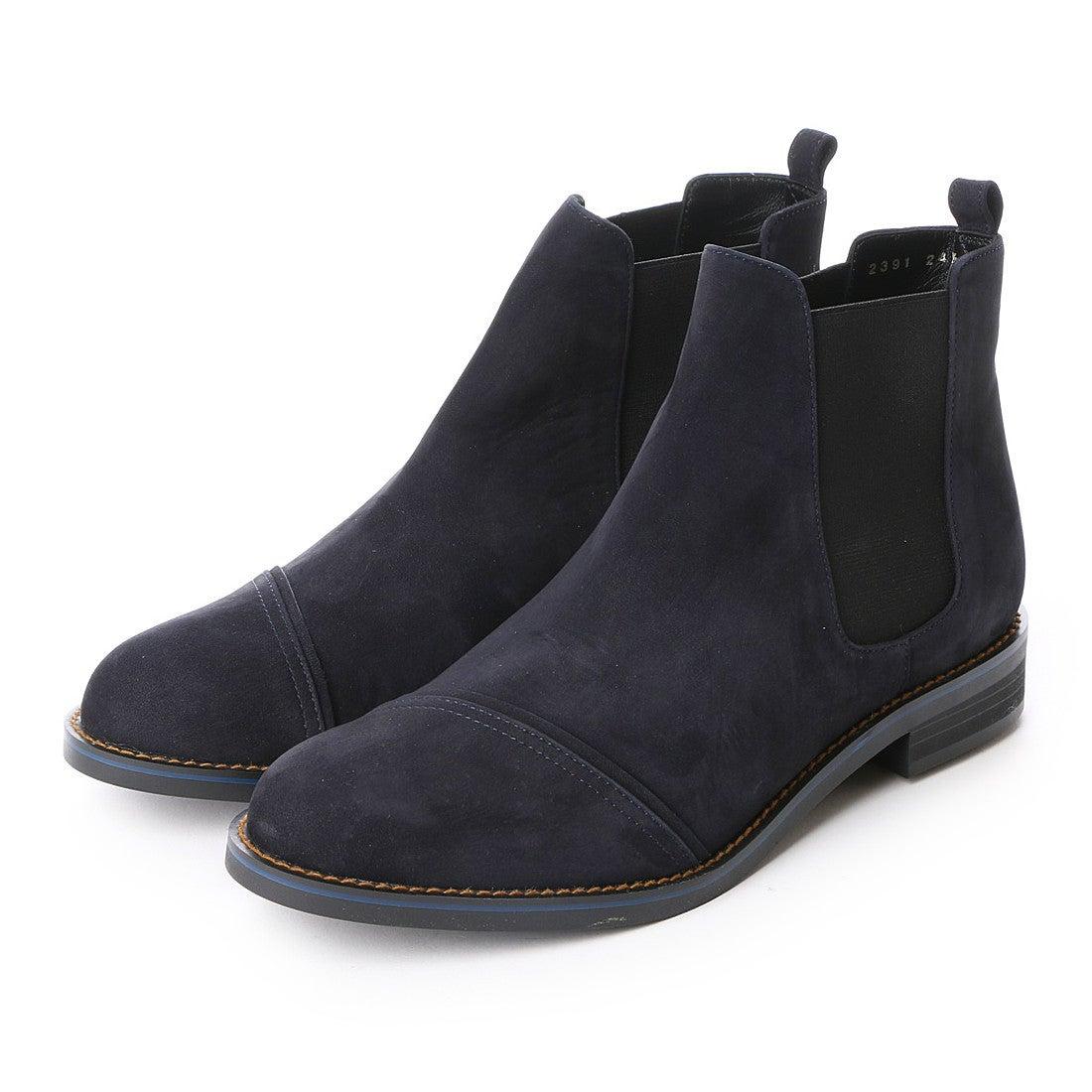 ランバン オン ブルー LANVIN en Bleu サイドゴアショートブーツ (ネイビーN) ,靴とファッションの通販サイト ロコンド