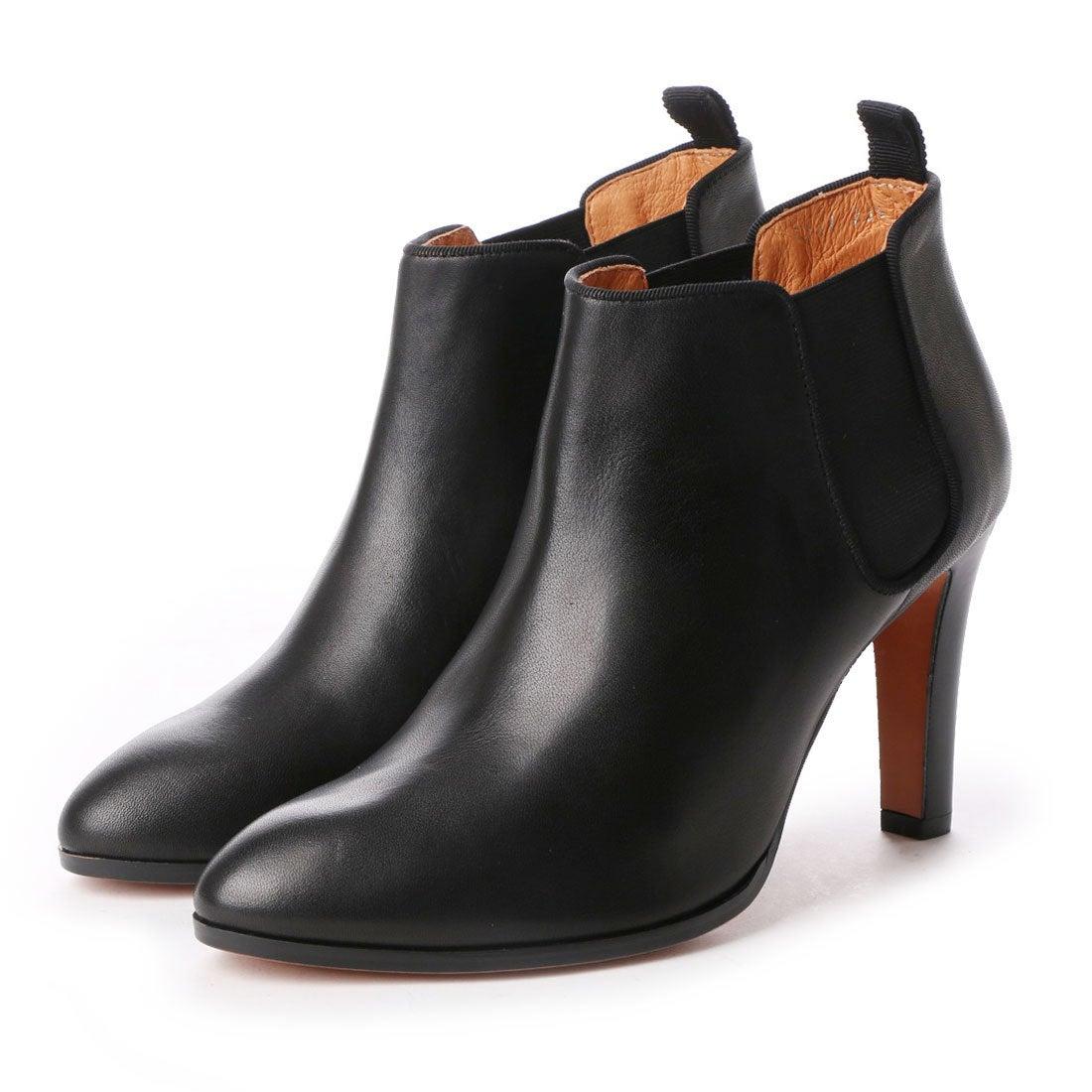 ランバン オン ブルー LANVIN en Bleu サイドゴアショートブーツ (ブラック) ,靴とファッションの通販サイト ロコンド