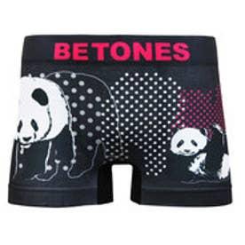 ビトーンズ BETONES 【BETONES】驚きの伸縮性!ボクサーパンツ メンズ ANIMAL4 (【09】Lブラック×パンダ)