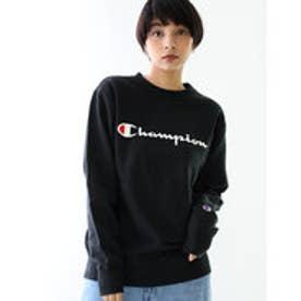 チャンピオン Champion 【Champion/チャンピオン】スウェット ロゴプリントトレーナー (ブラック【090】)