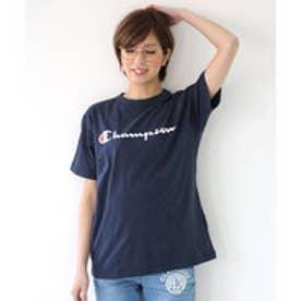 チャンピオン Champion 【Champion/チャンピオン】tシャツ ロゴプリント  Tシャツ (ネイビー【370】)