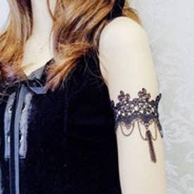 クラシカルエルフ Classical Elf 二の腕が綺麗に見える♪レースアームブレスレット (ブラック)