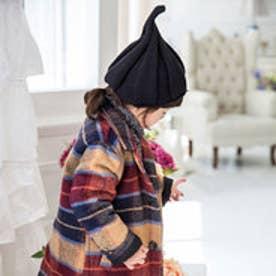 クラシカルエルフ Classical Elf とんがりニット帽 10色展開くるくるニット帽キッズ (ブラック)