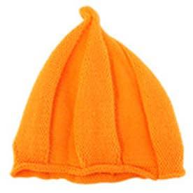 クラシカルエルフ Classical Elf とんがりニット帽 10色展開くるくるニット帽キッズ (オレンジ)