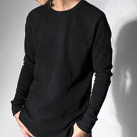 クラシカルエルフ Classical Elf 1枚でも着られるサーマルTシャツ ワッフル生地 長袖 シンプル ベーシック (ブラック)